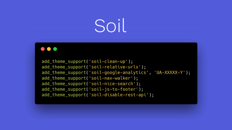 Soil | Cleaner WordPress Markup Plugin | Roots